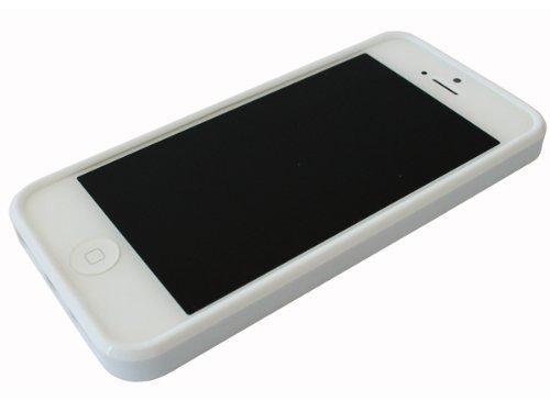 avci Base 4260344981106souple TPU Coque pour Apple iPhone 5/5S Blanc