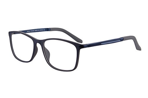 SHINU TR90 Progressive Multifocus Reading Glasses Multiple Focus Eyewear-SH031(blue and grey-up+0.00, down+2.00)