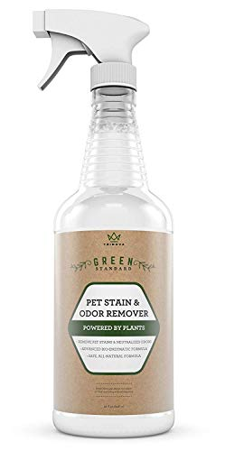 TriNova Natural Pet Stain and Odor Remover Eliminator - Advanced Enzyme Cleaner Spray - Remove Old & New Pet Stains & Smells for Dogs & Cats - All-Surface Safe - 32 OZ ... (Getting Rid Of Dog Urine Smell On Wood)