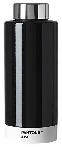 Pantone Botella Acero Inoxidable, 630 ml, Acero Inoxidable, Black 419, 7.4 x 7.4 x 19 cm