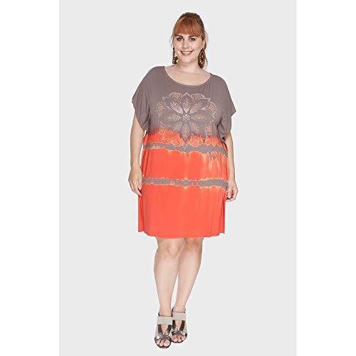 Vestido Lenço Tye Dye Plus Size Laranja-50