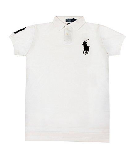 Polo Ralph Lauren Men's Custom Fit Big Pony Mesh Polo, XL, White