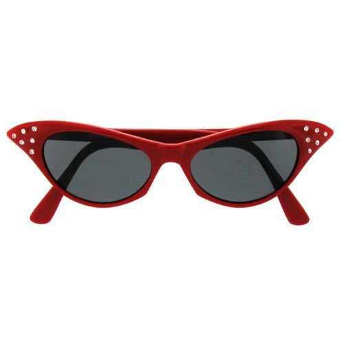 8d5086d58cbc3 durable service Old School Cat Eye Sunglasses with Rhinestones In ...