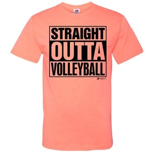 Volleyball Straight Outta Coral T Shirt product image