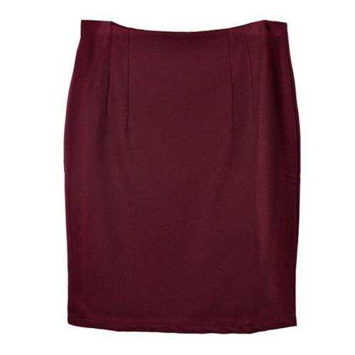 Zeagoo Women's High Waist Bag Hip Knee Length Pencil Skirt