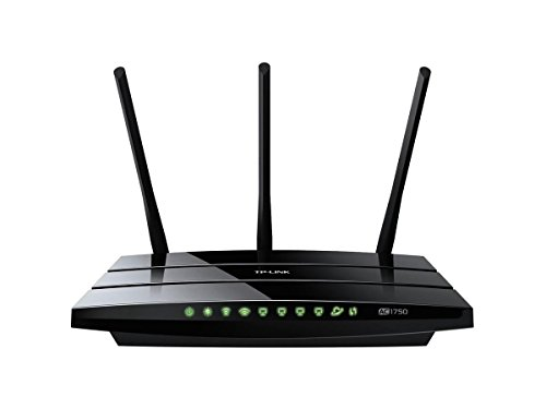 TP-LINK Archer C7 AC1750 Dual Band Wireless AC Gigabit Router, 2.4GHz 450Mbps+5Ghz 1350Mbps, 2 USB Ports, IPv6, Guest Network - 2.40 GHz ISM Band - 5 GHz UNII Band - 1750 Mbps Wireless Speed - 4 x Net