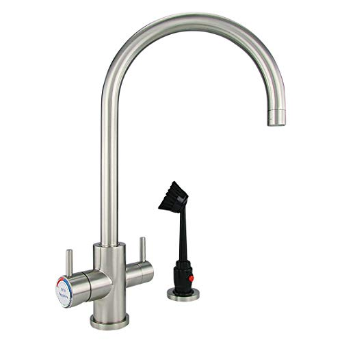 Dishmaster M70BNHA Sapphire Kitchen Faucet - High Arc Spout - Brushed - Ounce Reservoir 72