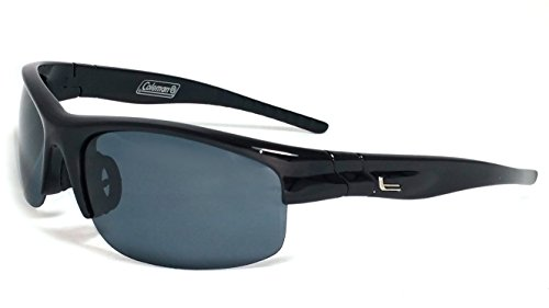 Coleman Trailblazer Polarized Rectangular Sunglasses, Black, 69 - Blazer Sunglasses
