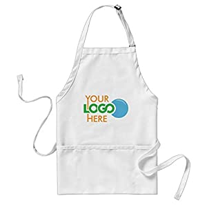 PotteLove Custom Apron Uniform with Company Logo Promotional, Adjustable Apron with Two Pockets, 31.5x27.6 Inch |