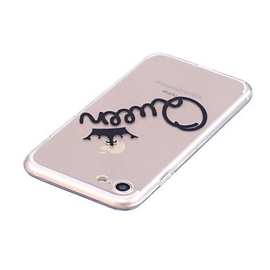 Fundas y estuches para teléfonos móviles, Caso para el iphone de la manzana 7 7 más la caja del teléfono del patrón de la reina de la cubierta del alto caso transparente ( Modelos Compatibles : IPhone IPhone 6s/6