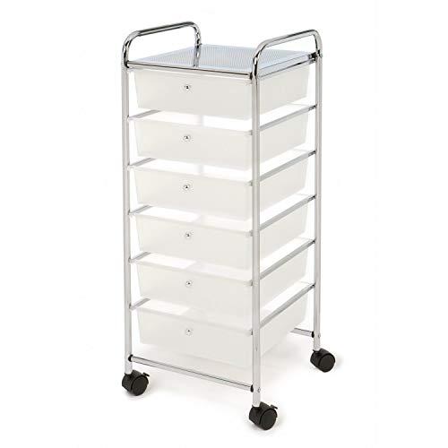 (Kiorc 6-Layer Drawer Storage Cart Multi-Layer Debris Storage Cabinet)