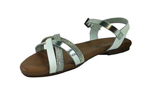 PORRONET Women's Fashion Sandals Bianco IIL4KUI