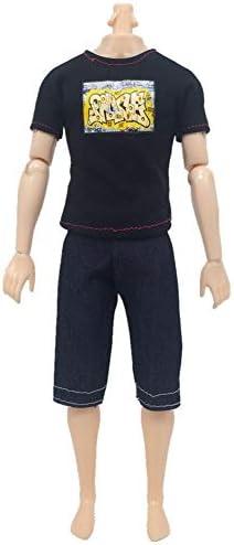 elegantstunning 5PCS//Set Bambini Vestiti Giocattolo Fashion Casual Vestito Indossare per 32/cm Maschio Ken Doll