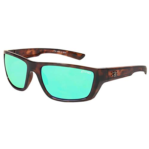 Calcutta Shock Wave Sunglasses (Tortoise Frame w/ Green Mirror ()