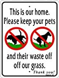 4.5''x6'' w/2ft Steel Post Aluminum No Poop No Pee Lawn sign