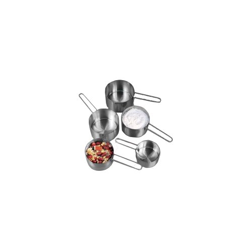 American Metalcraft MCW4 Measuring Cup Set, Stainless Steel, Wire Handle (Set of 4) ()
