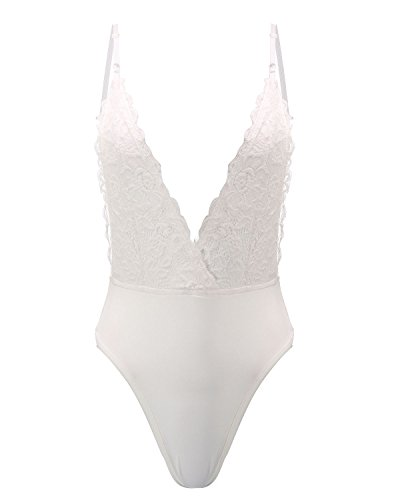 Underwear Intimi Bra Babydoll StyleDome Pizzo Lingerie Donna Bianco Reggiseno Sexy Notte Completi Tuta Ovq4tna