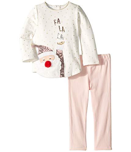 Mud Pie Pink Sequin Santa Tunic and Legging