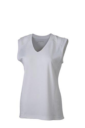 transpirable mujer de para blanca tirantes Camiseta blanca qxpvH