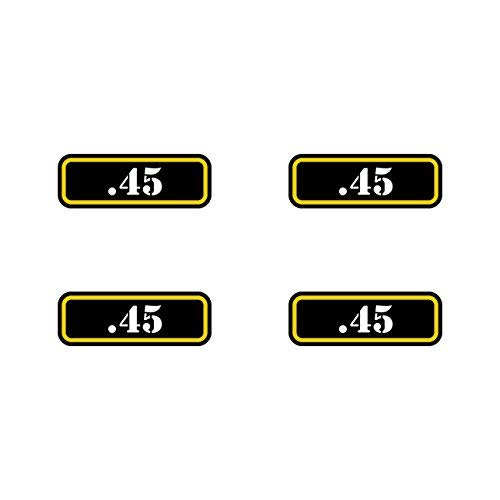 (4X) .45 Ammo Can Sticker Set Decal Molon Labe Bullet 40 Type 2 Vinyl Made in USA