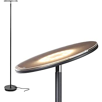 Tenergy Torchiere Dimmable Led Floor Lamp Remote