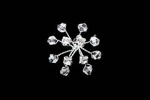 Set of 2 Handmade Crystal Baby Breath Flower Hair Pins H055