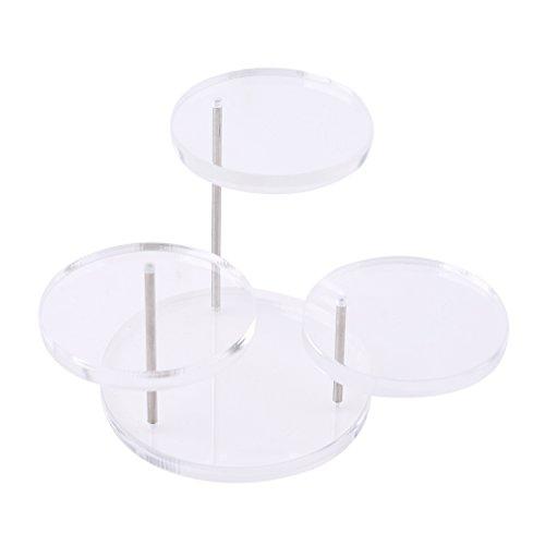 Transparent Rack Acrylic (Meolin Jewelry Organizer Acrylic Jewelry Display Round Table Holder Stand Rack,Acrylic,1.38-2.56in)
