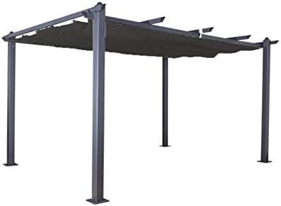 Jet-Line Luxor - Pérgola para jardín (4 x 3 m), Color Gris ...