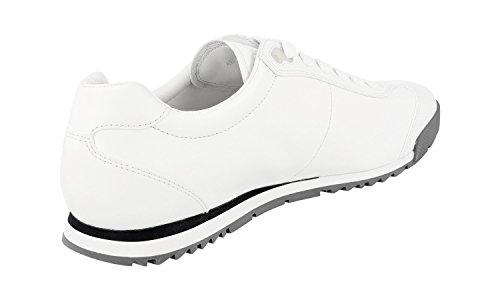 Prada Hombres 4e2554 O3y F0009 Sneaker De Cuero