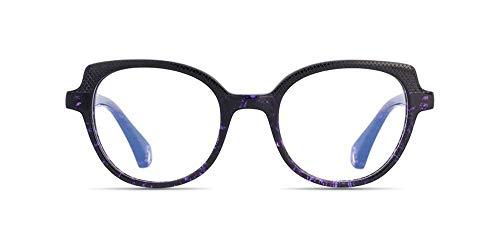 (Prescription Glasses, Eyeglasses Include Customized Rx Lenses - with Single Vision or Multifocal Progressive Reading Lens Anti-Glare/Digital Block Coating - Bordeaux Metal Full Rim )