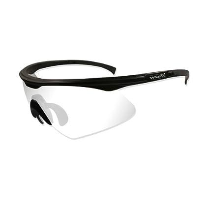 54cb5d2d92 Wiley X PT-1 Safety Glasses Matte Black Frame with Clear Lens RX Insert PT