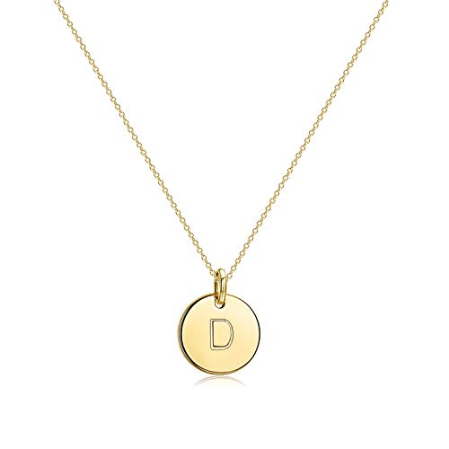 Befettly Initial Necklace Pendant 14K Gold-Plated