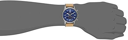 Akribos XXIV Men s AK897SSBU Multifunction Dial Watch with Tan Strap