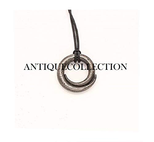 ANTIQUECOLLECTION Circle of Gaia- Mother Earth- Gaea - Hand Forged Iron Pendant Jewelry ()