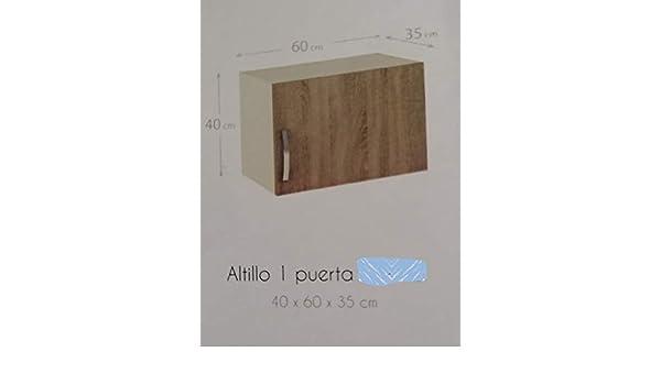 TRADEDEKOR MODULO Cocina ALTILLO Alto 1 Puerta 40x60x35 cm: Amazon ...