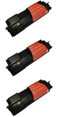 Clearprint TK-144 Compatible 3-pack of Black Toner Cartridges for Kyocera FS-1100 printers