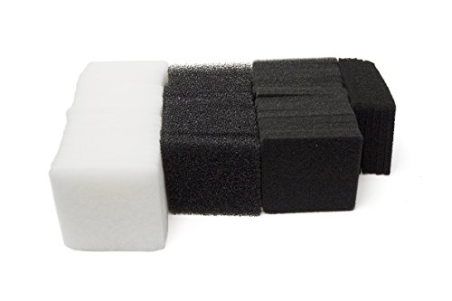 Rena Filstar Micro Filtration - LTWHOME Compatible Foam Carbon Micro Filter Pads Set Fit for Rena Filstar xP Filter Media(Pack of 50)