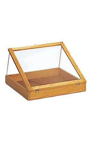 Natural Pine Portable 24inch Wood Countertop Display Cases - 24''W x 24''L x 3''D by Display Cases