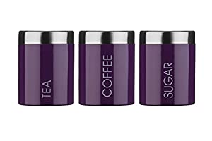 purple canister set kitchen premier housewares liberty tea coffee and 21385