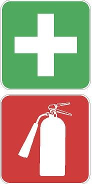 *This Is for One 2.x 5 Inch Fire Ext. Sticker and One 2.5 First Aid Sticker, Great for Riders on Their Atv's -