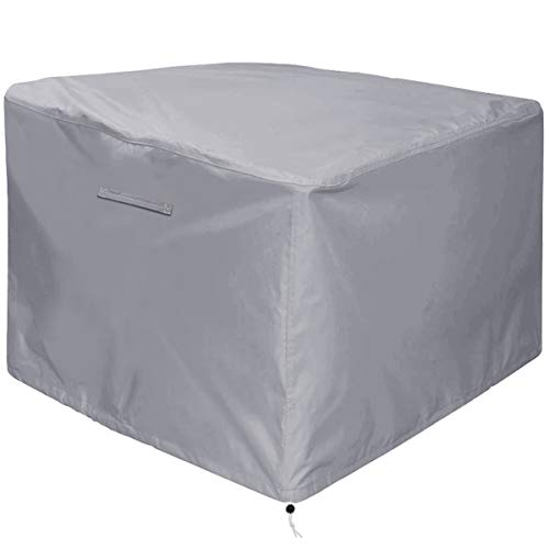 Gas Fire Pit Cover Square - Premium Patio Outdoor Cover Heavy Duty Fabric with PVC Coating,100% Waterproof,Anti-Crack,Fits for 30 inch,31 inch,32 inch Fire Pit / Table Cover (32