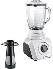 Bosch MMB42G1B Batidora de vaso 2.3L 700W Blanco - Licuadora (2,3 L, Batidora de vaso, Blanco, Vidrio, Acero inoxidable, 700 W)