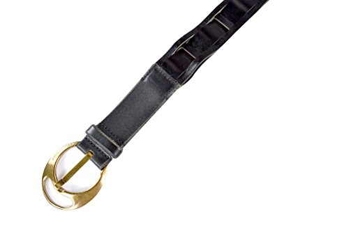 "Dolce & Gabbana Men's Black Leather Copper Buckle Belt (95cm - 38"")"