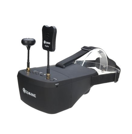 Crazepony FPV Goggles Eachine EV800D 5.8G 40CH Diversity 5 Inch 800480 Video Headset Build in HD DVR 7.4V 1200mAh Battery for RC (Quad Lcd Dvr)