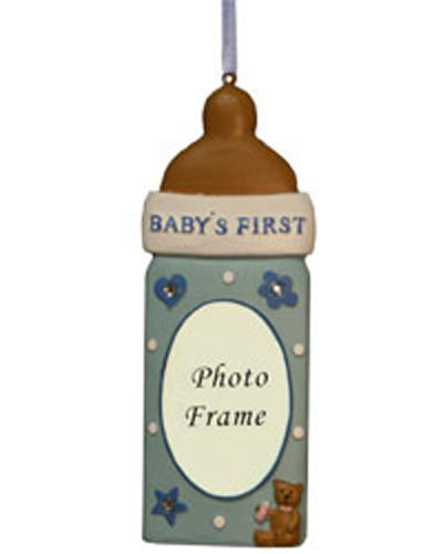 Baby Bottle Picture Frame Christmas Ornaments [7091429] (Ornament Northstar)