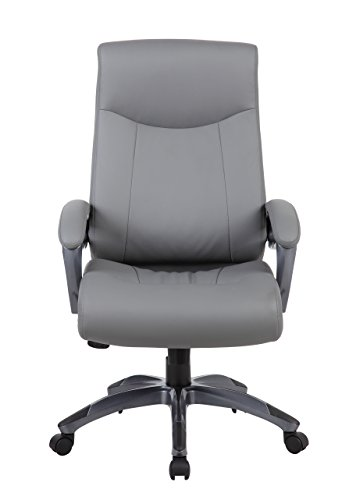 Boss Office Products B8661-GY Double Layer Executive Chair in Grey