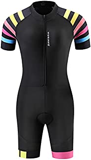 Staright Women Triathlon Suit Short Sleeve Cycling Jersey Set MTB Bike Bicycle Clothing Jumpsuit