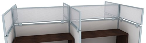 12'' Polycarbonate Cubicle Mounted Privacy Panel with Small Brackets by OBEX