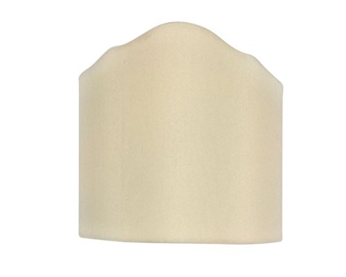 Half Lamp Shades - Upgradelights Wall Sconce Shield Clip on Half Lampshade (Eggshell)