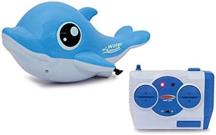 RC TECNIC Delfín Teledirigido RC Acuático con Mando | Animales Radiocontrol Agua Robot Juguete para Niños para Piscina Barco Control Remoto